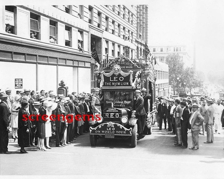 MGM Lion on tour photo 1920s Metro Goldwyn Mayer studio mascot RARE film