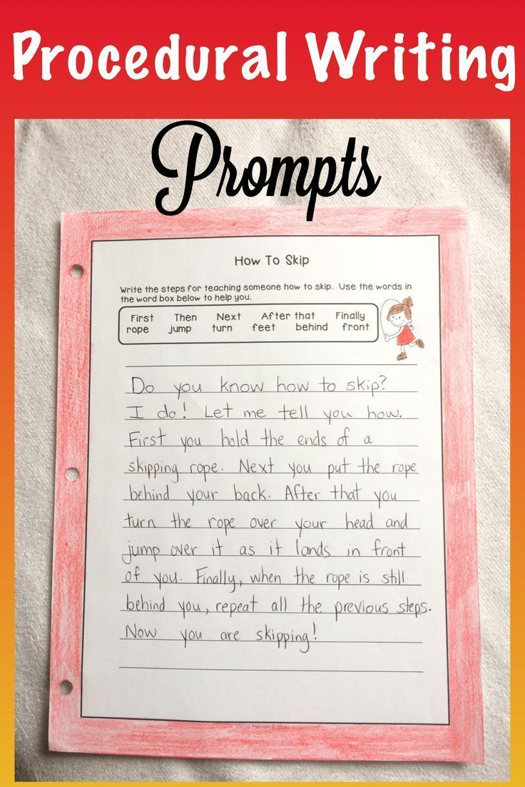 These Procedural Writing Prompts can give primary students some great ideas to help them begin writing procedures.