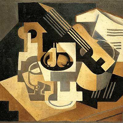 """Cubismo """"Guitarra y Frutero"""" (1918) Juan Gris. Cubismo Sintetico"""