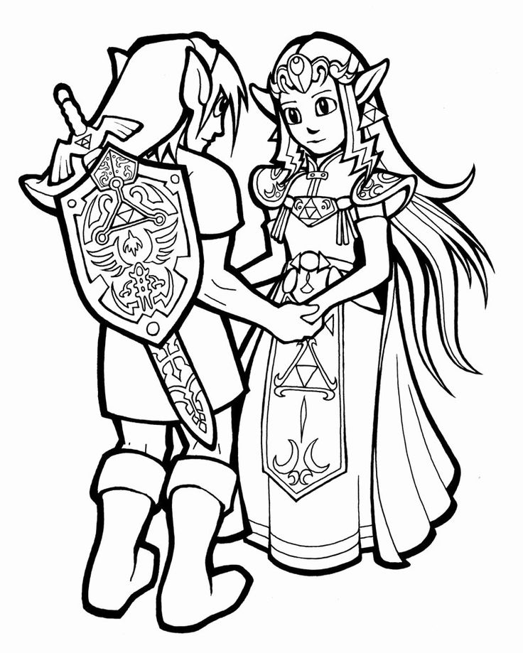 24 Legend Of Zelda Coloring Book in 2020 Coloring pages