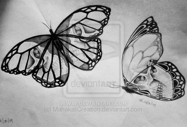 skull butterflies