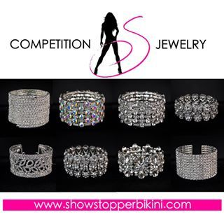 New Showstopper NPC Bikini Competition Bracelets available now at showstopperbikini.com!