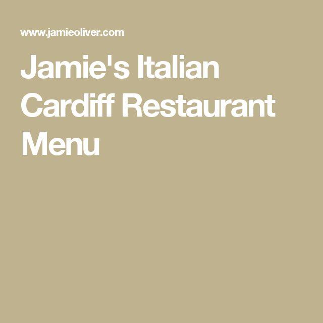 Jamie's Italian Cardiff Restaurant Menu