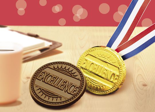 Chocolate Gold Medal....so much tastier than a real one