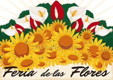 Beautiful Floral Arrangement for Colombian Flowers Festival