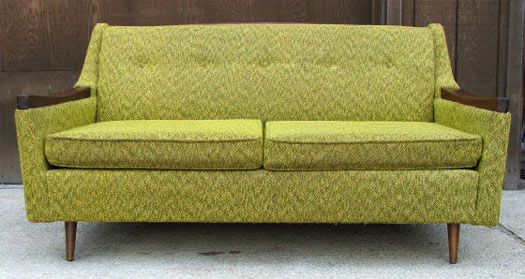 35 best green sofa images on pinterest couches green for Vintage divan sofa