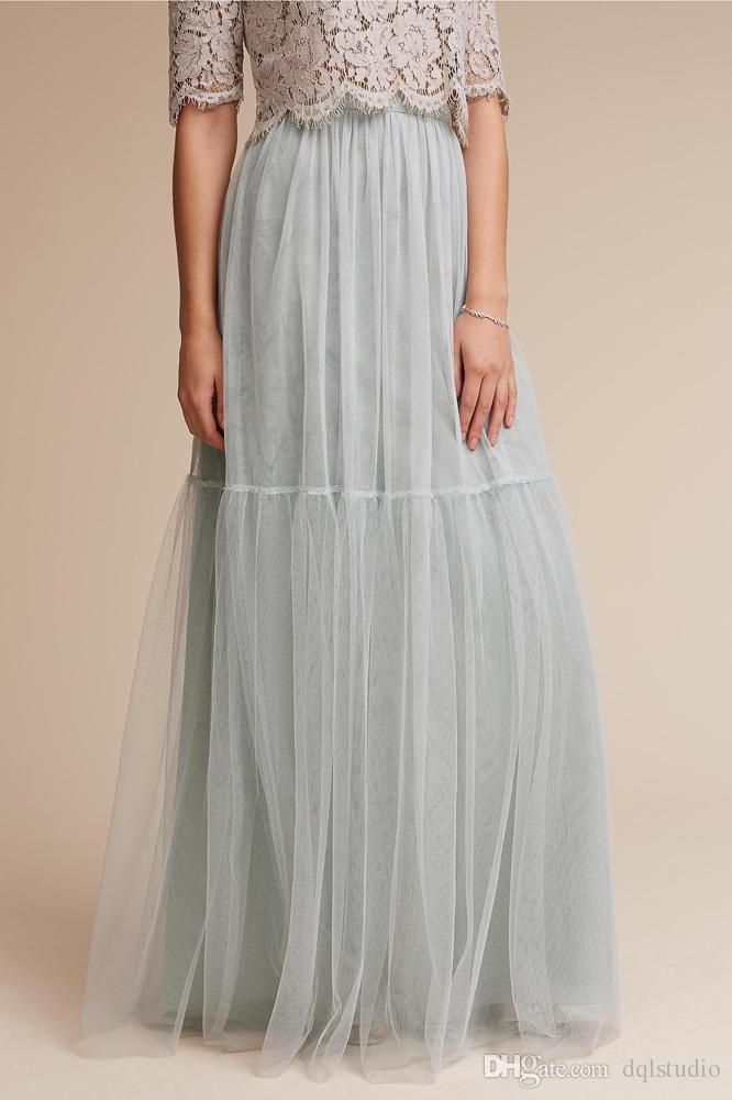 Stunning Tulle Sirts Long Fancy Women Clothing High Quality Long Skirts Pleats 2 Layers Tulle One Lining Skirts Tulle Skirts Long Skirts Online with $49.0/Piece on Dqlstudio's Store | DHgate.com
