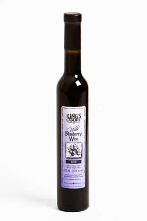Wild Blueberry Wine | King's Court Estate Winery  http://www.ontario-wine.com