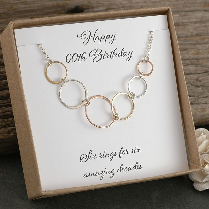 60th birthday gift six rings for 6 amazing decades mixed