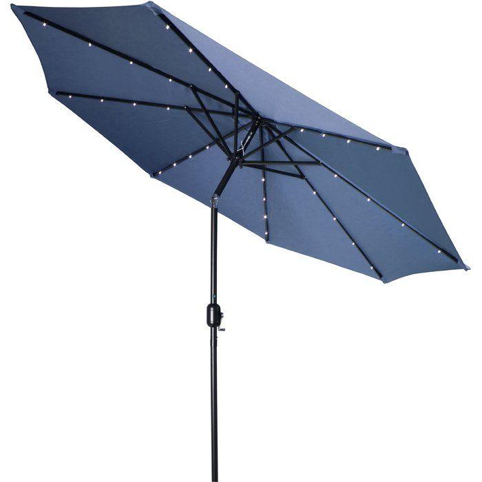 mastin 9 lighted umbrella patio umbrellas solar powered led lights cage lantern