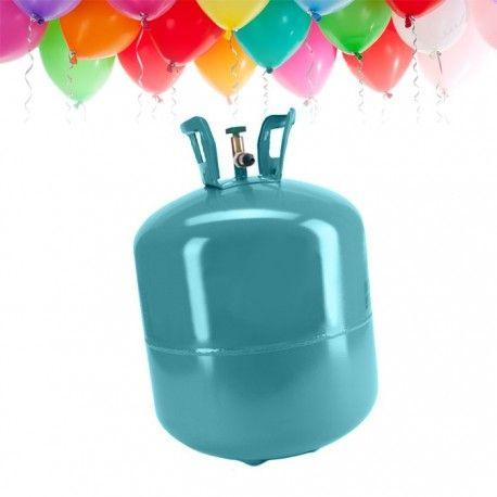 1 bombona de helio de 0,25m3.   Ideal para inflar 30 globos aprox.   Botella de Helio desechable.   Flotación de los globos de látex con helio: 6-9 horas.
