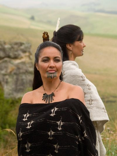 Maori Women chin tattoos symbolize that she has the authority to speak as a leader within the tribe.