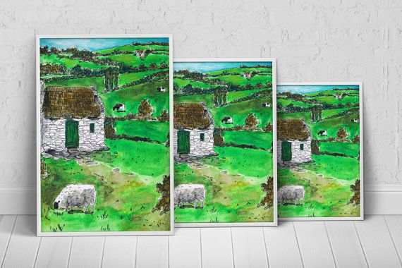 Nature European Village Art Print Poster on Etsy, $27.35 AUD