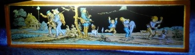Antique Glass Magic Lantern Hand Colored Slide