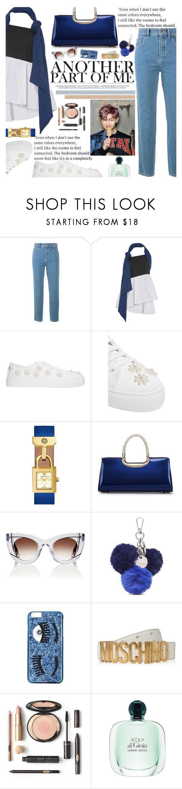 """Untitled #2291"" by anarita11 ❤ liked on Polyvore featuring Chloé, Isa Arfen, Simone Rocha, Tory Burch, Thierry Lasry, Nine West, Chiara Ferragni and Moschino"