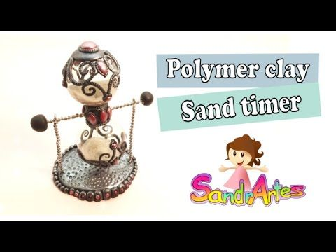 Polymer clay Sand Timer- Relógio de Areia (1 minute)