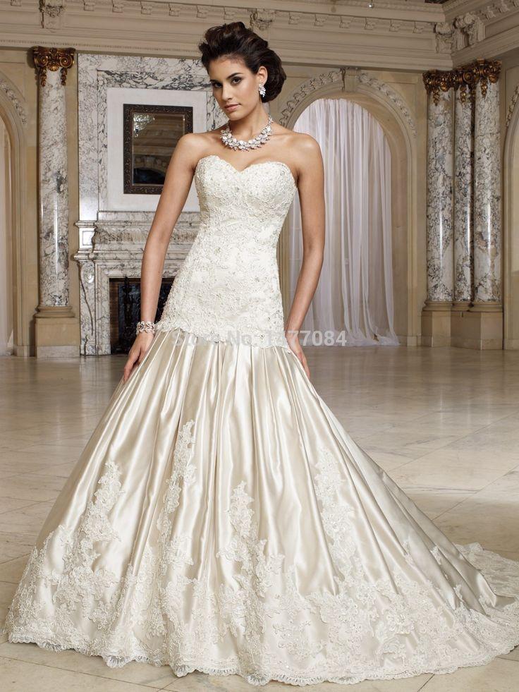 Элегантные Платья для Свадеб Милая Аппликация Корсет Труба Спинки Свадебные Платья Без Рукавов 2015