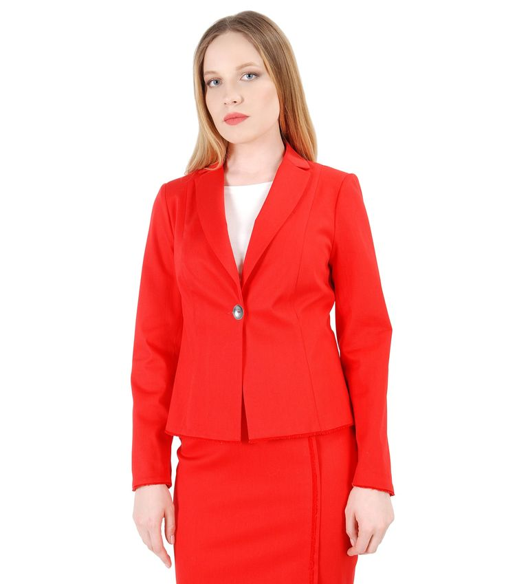 Shade of red for every woman Spring17 | YOKKO #cotton #jacket #red #office #workwear #business #beauty #fashion #style #yokko