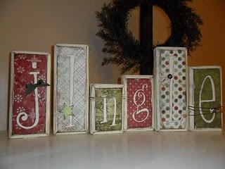 Make it.Holiday, Santa Workshop, Christmas Crafts, Christmas Decorations, Wood Blocks, Scrapbook Paper, Christmas Words, Letters, Christmas Ideas