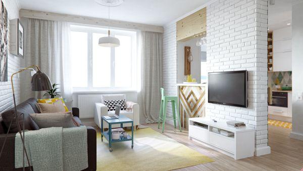 13평 아파트 인테리어 디자인_북유럽스타일의 집Fun 45 Square Meter Apartment With A Crossword ...