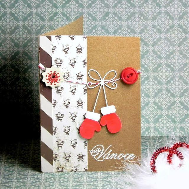 Vánoční přání s rukavicemi