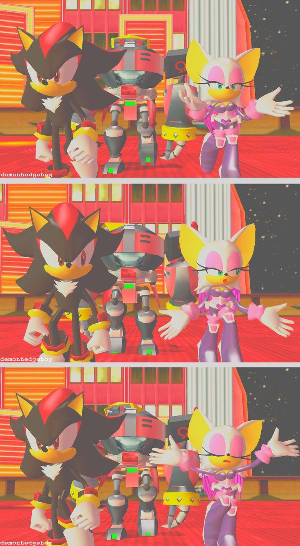 Sonic Heroes shadow the hedgehog Rouge the Bat e-123 omega screenshot