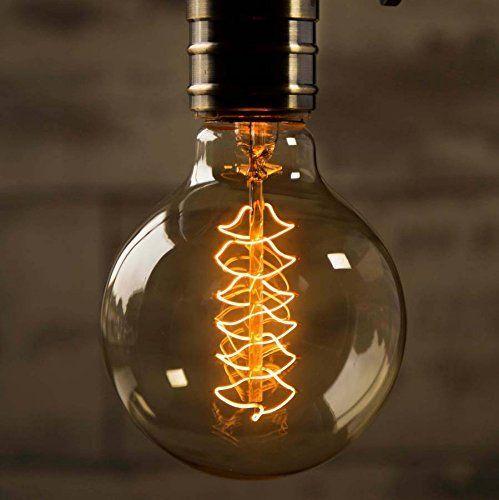 Elfeland Edison Glühbirne / Industrial Vintage Retro Stil / E27 40W Spiral Filament / für Hängelampe Wandleuchte Pendelleuchte / φ 95mm Dimmbar - 6 Stück: Amazon.de: Beleuchtung