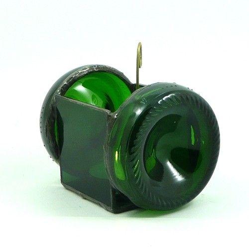 PREZENT. Eko-świecznik z butelek. Upcykling. / GIFT. Eco-chandelier made of hand-cut glass bottles. Upcycling.