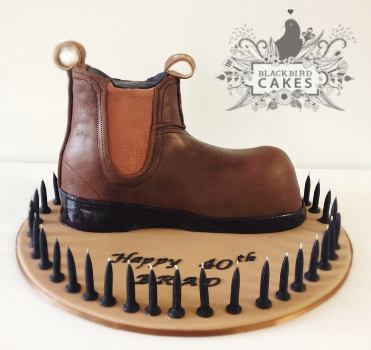 Blundstone Boot Cake by Blackbird Cakes