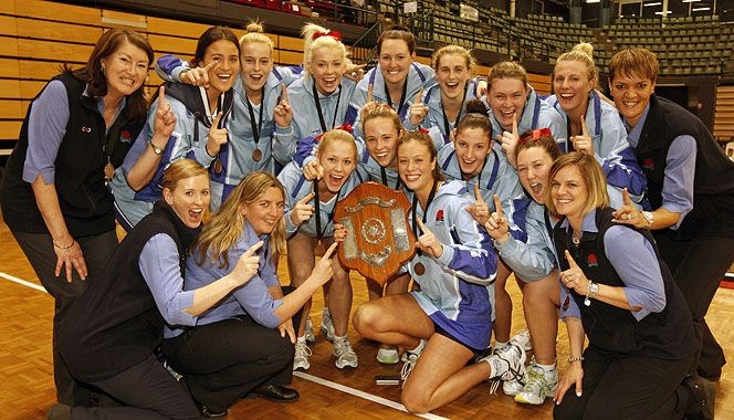 New South Wales celebrate winning the 2012 21/U National Netball Championships.