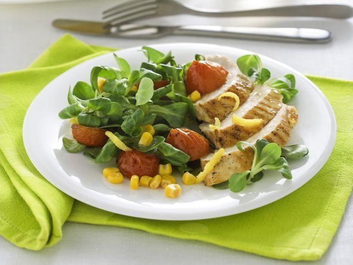insalata-di-pollo-al-limone-e-basilico preparazione