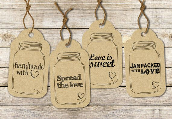 INSTANT DOWNLOAD Mason Jar Label Tags Printable sheet