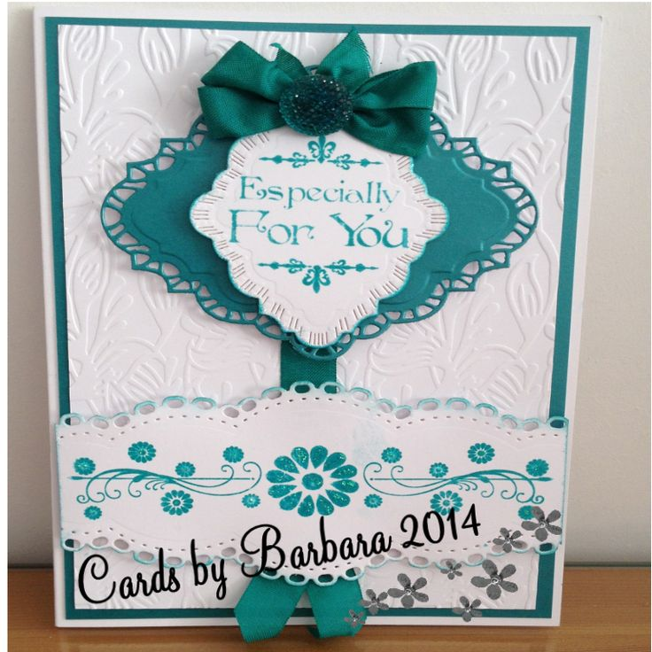 Made using Sue Wilson Embossing Folder Sea Garden,Border from Sentimentally Yours floral Collection and Sentiment from the Baroque Collection. Sue Wilson & Spellbinder dies