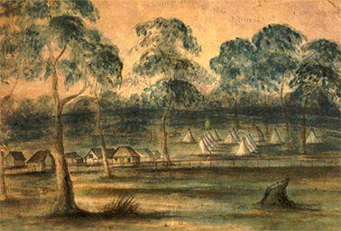 Lambing Flat miners' camp c.1860s SLNSW
