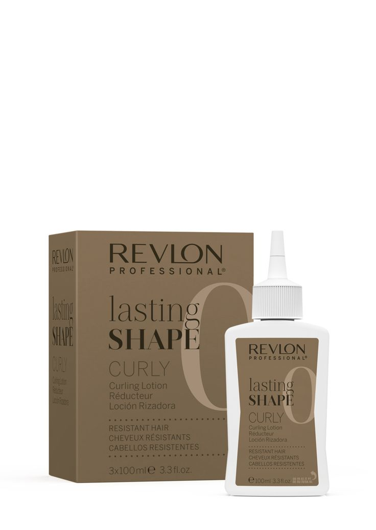 Revlon Professional lasting Shape Curly Curling Lotion Resistant Hair 3x100ml.