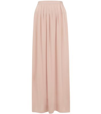 Shell Pink Voile Maxi Skirt