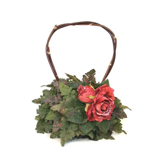 Rose Handbag Dark Blush Pink by Theothersister on Etsy, $65.00