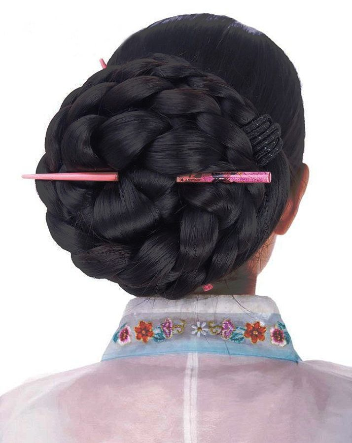 Xia Aifeng - Hugh classic Chinese bun.  Beauty is at every age, and we can embrace God's gifts. A wife's long hair is just naturally beautiful, a glory to her and a joy to her partner/husband. Quit trying the artificial route and trust in how you were made.