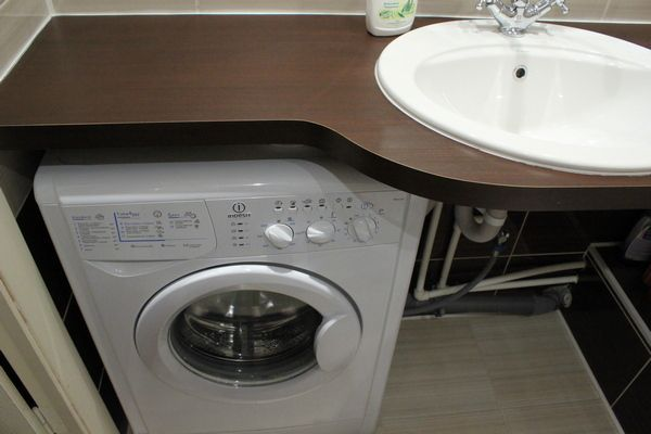 Интерьер ванной в современном стиле со стиральной машиной. Дизайн с фото | DomoKed.ru