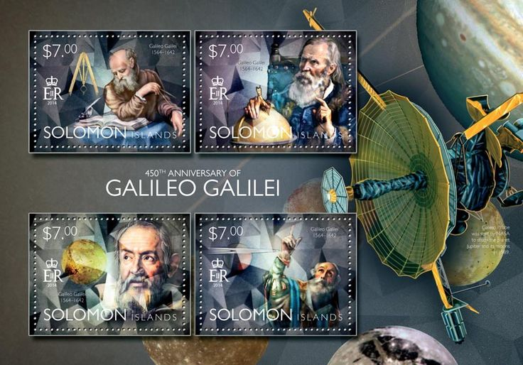 Post stamp Solomon Islands SLM 14506 a	450th anniversary of Galileo Galilei (1564-1642)