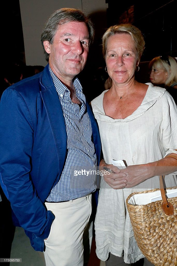 Daughter of actor Gerard Philipe, Anne-Marie Philipe and her husband attends 'Stars under Stars' at 29th Ramatuelle Festival on July 31, 2013 in Ramatuelle, France.