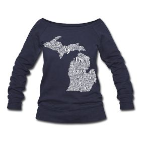 Tons of Michigan prints- can get all kinds of shirts and sweaters