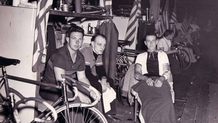 """Erv was a professional 6 day bike racer who competed at Madison Square Garden, Chicago Coliseum, Montreal and Toronto, Canada. During WWII, he parachuted into Normandy Beach on D Day."""