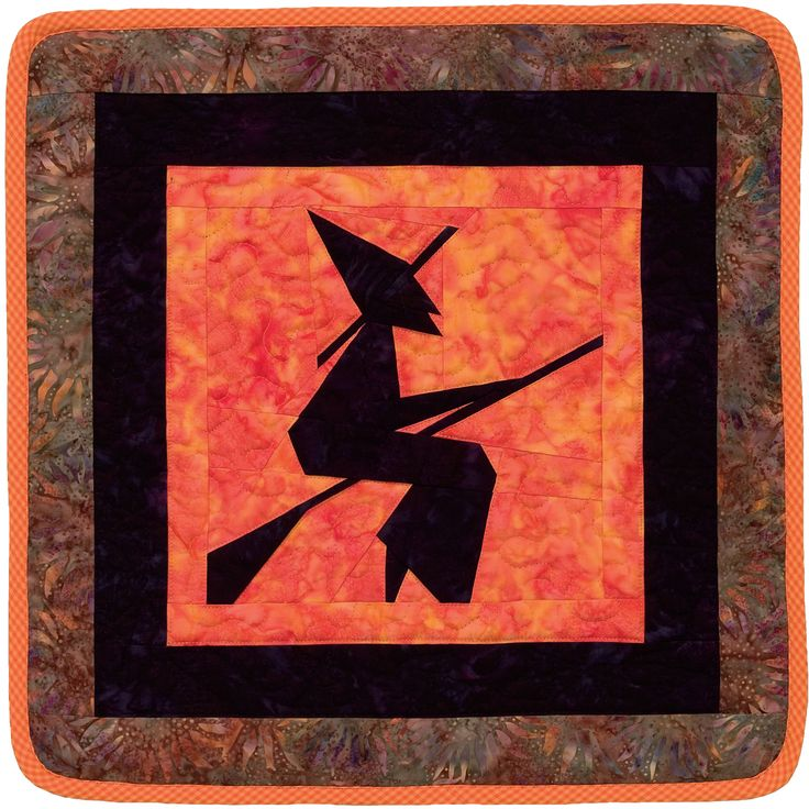 """Witch"" way to a free Halloween quilt pattern? This way! Cast your sewing spells on this spooky little quilt - get the pattern for free when you sign in or register at ShopMartingale.com."