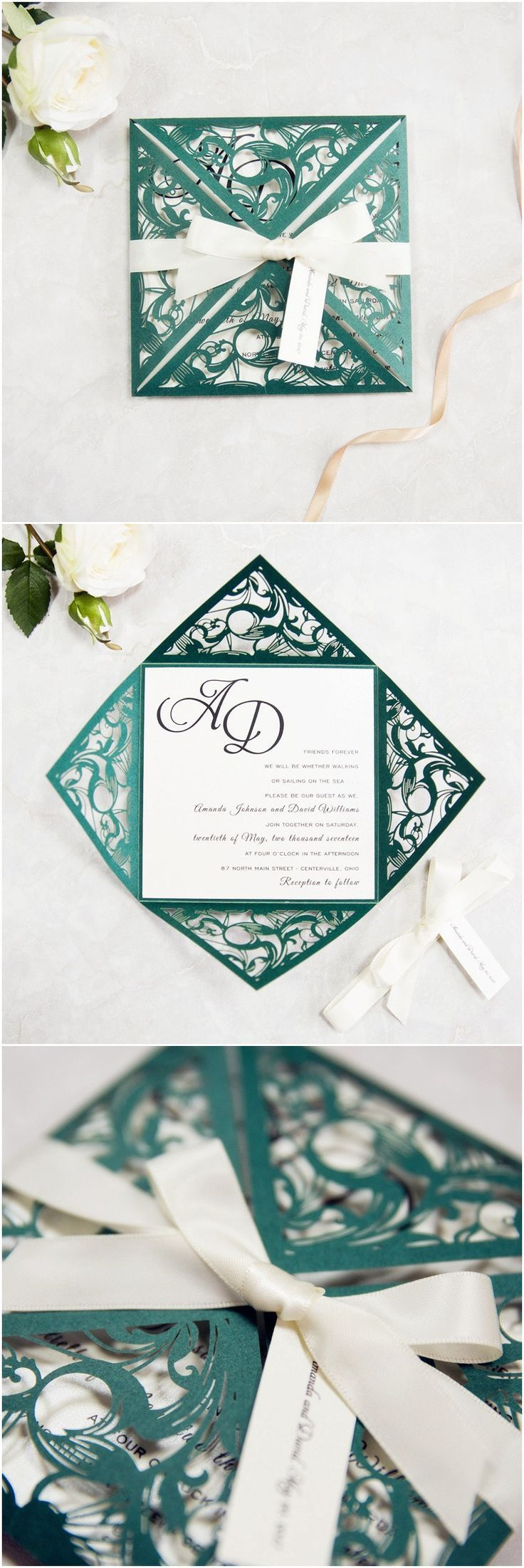 958 best Wedding invitations images on Pinterest | Invitations ...