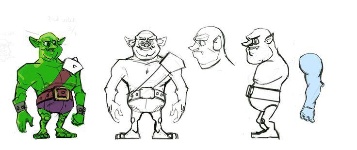 Orc cartoon sketch