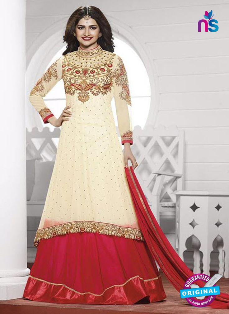 Vinay Fashion 3936 Beige and Red Georgette Designer Gawn