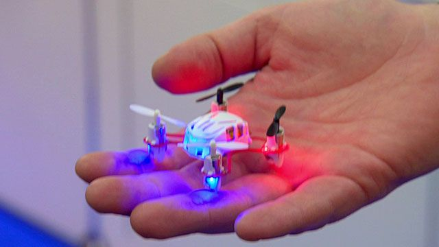 Fly the world's smallest quadcopter - This is pretty cool, it weighs the same as a pencil. And you can use it off your smartphone .