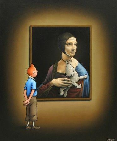Léonard de Tintini : La Dame à l'Hermilou (Ole Ahlberg)