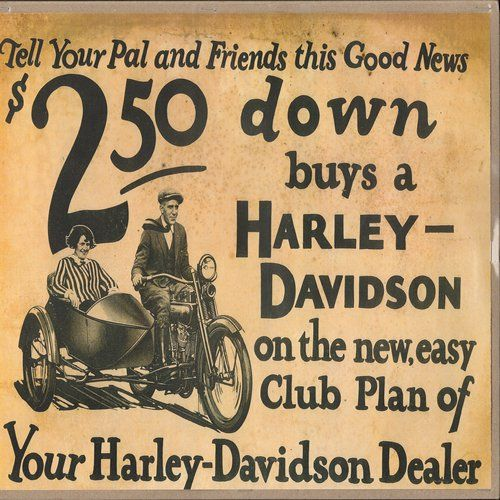 18 Old School Vintage Harley-Davidson Ads |